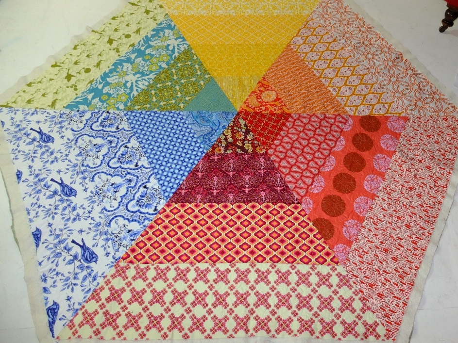Hex quilted full
